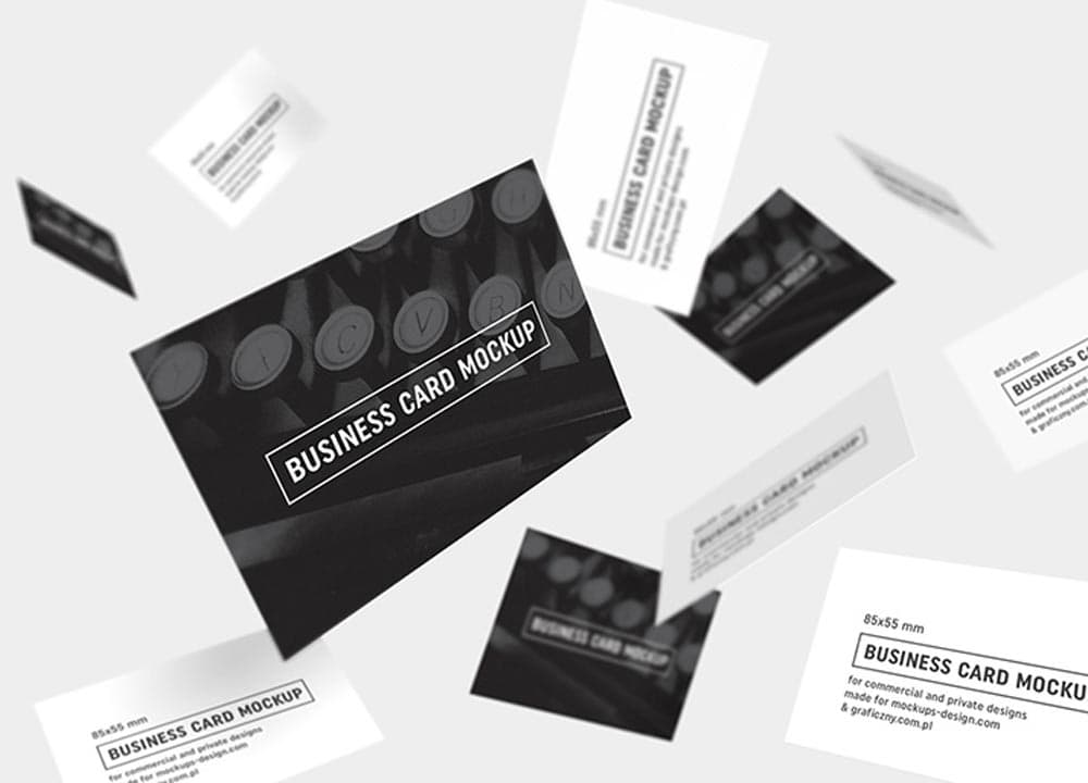 6 Different Free Business Card PSD Mockups