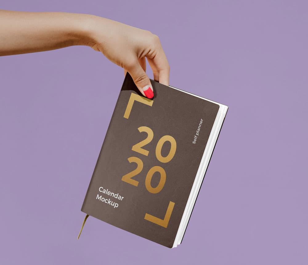 Calendar Book Free PSD Mockup