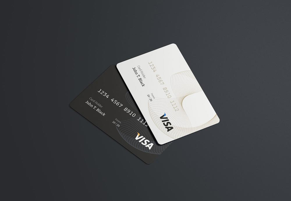 Credit Card Free PSD Mockup