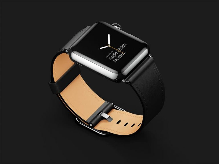 Free Apple Watch Mockups in Different Materials