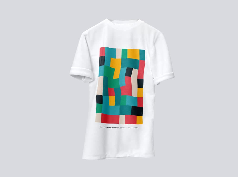 Free Different Colored T-Shirt PSD Mockups