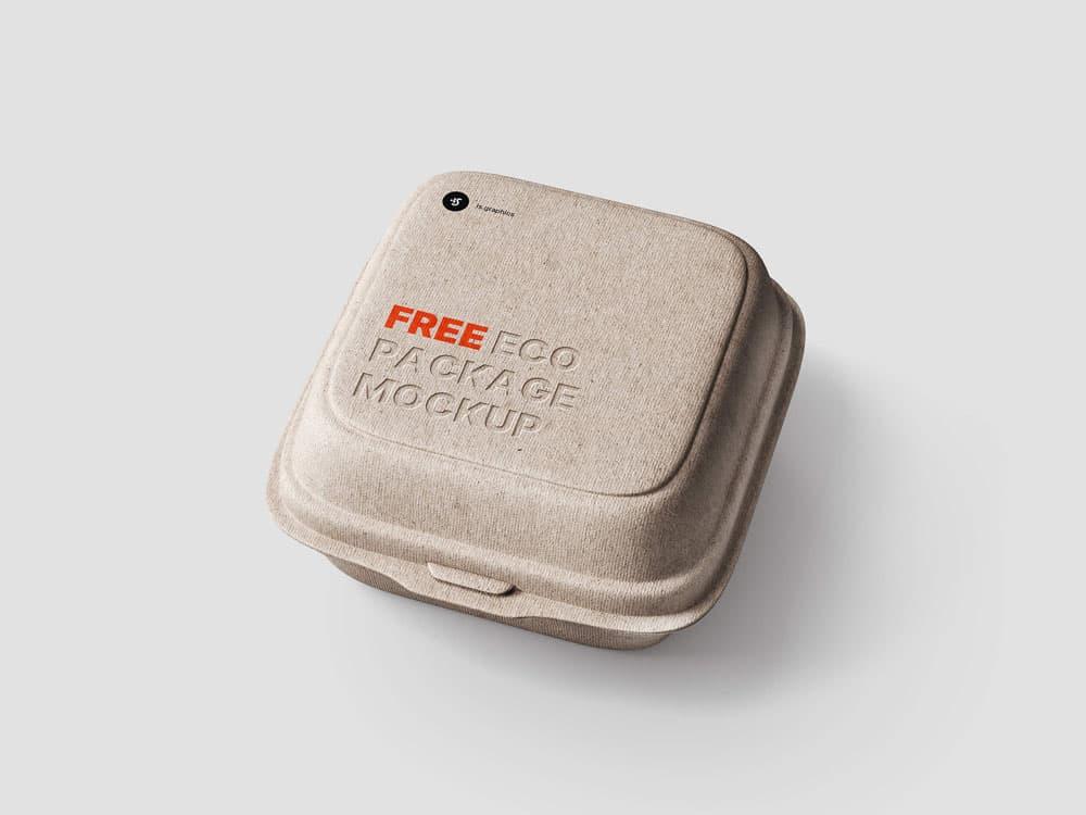 Free Eco Package PSD Mockup