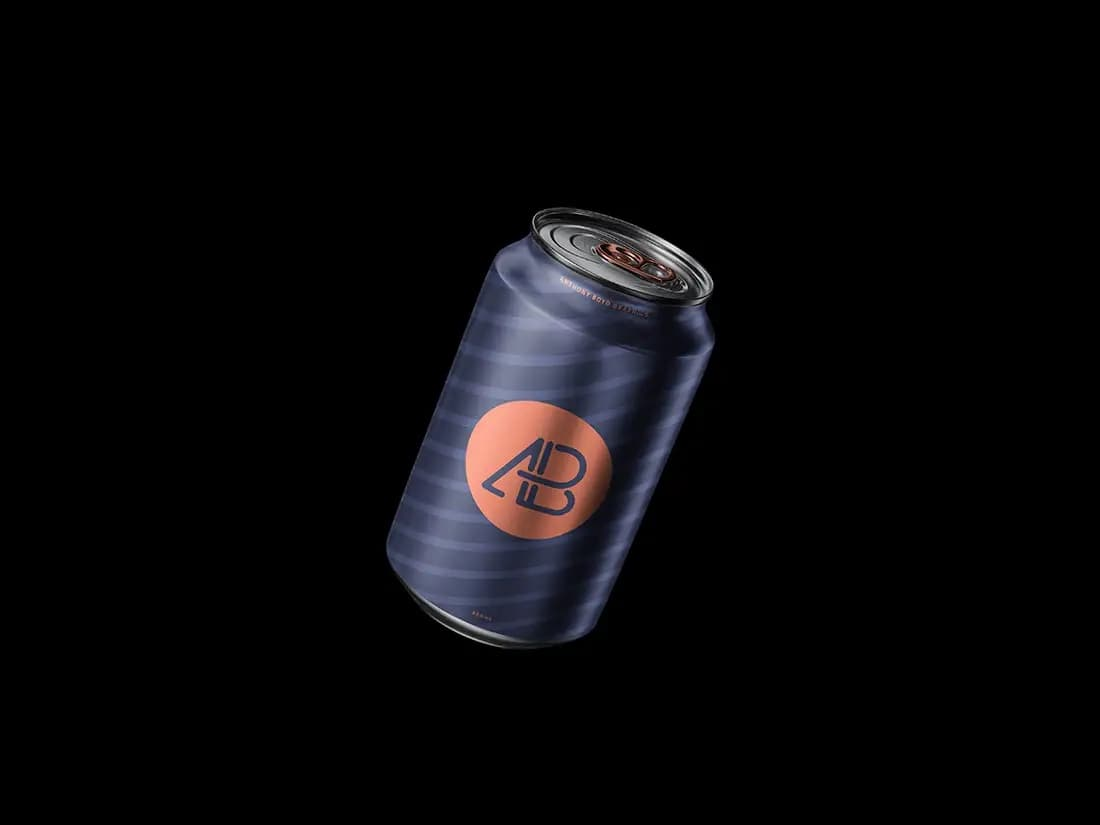 Free Floating Can PSD Mockup