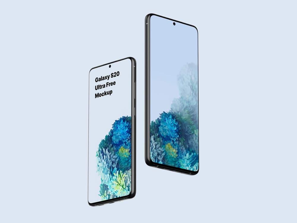 Free Galaxy S20 Ultra PSD Mockup