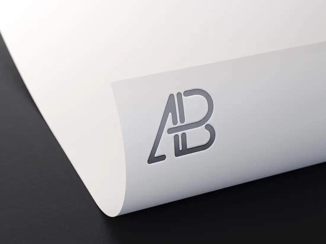 Free Metallic Foil Logo PSD Mockup