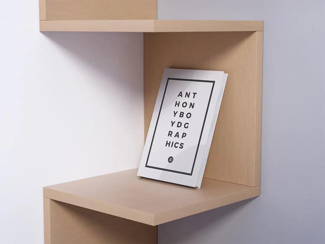 Free Modern Book PSD Mockup