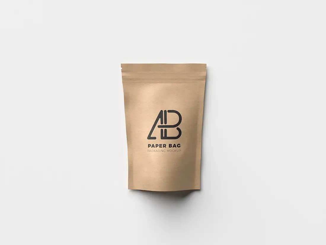 Free Paper Bag Packaging PSD Mockup