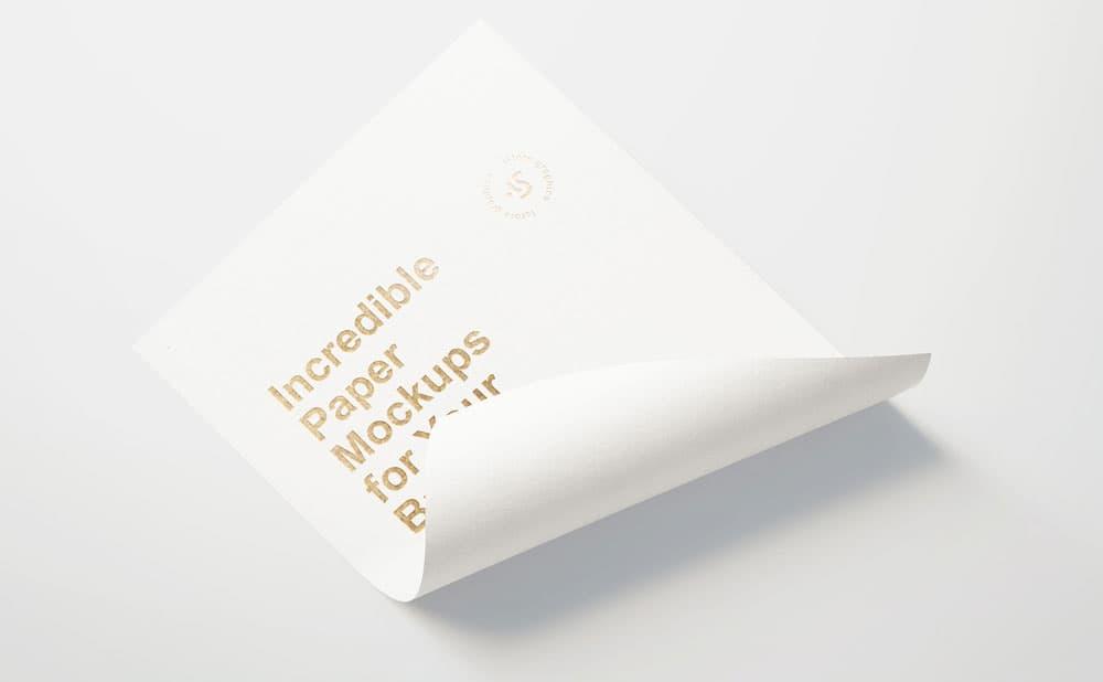 Free Paper Branding PSD Mockup