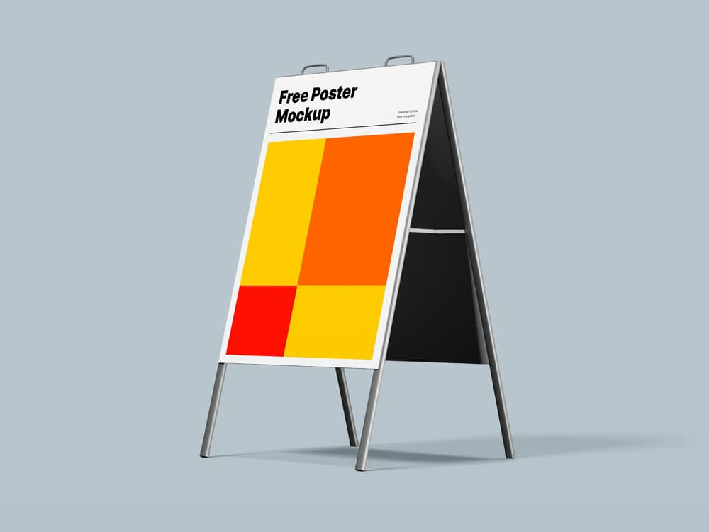 Free Two A-Stand Poster PSD Mockups