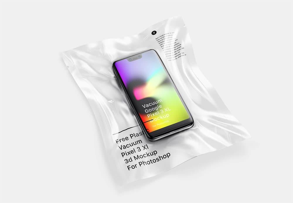 Free Vacuum Plastic Smartphone PSD Mockup