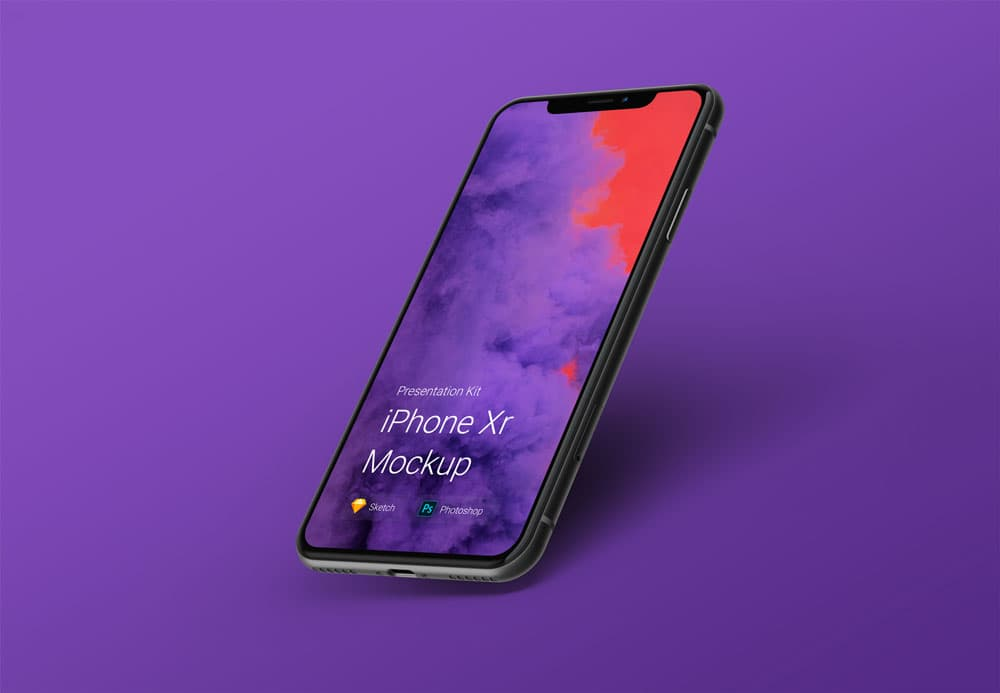 Free iPhone Xr PSD Mockup