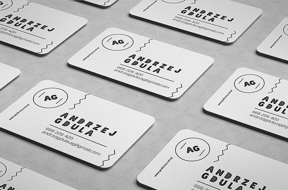 Free Rounded Business Cards PSD Mockup
