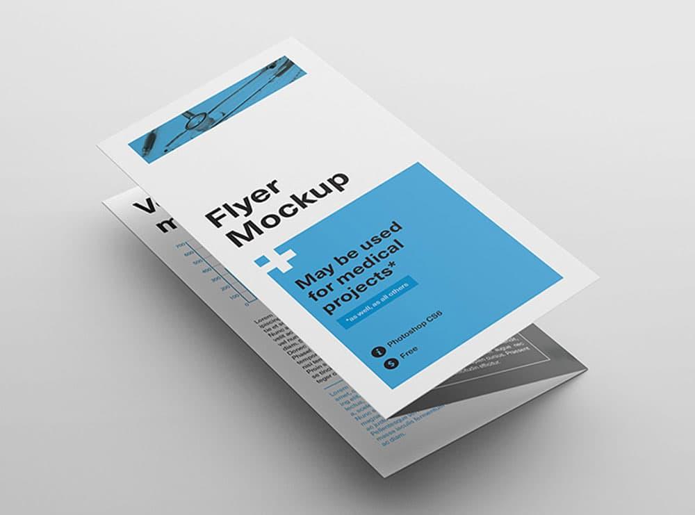 Tri Fold Flyer Free PSD Mockups