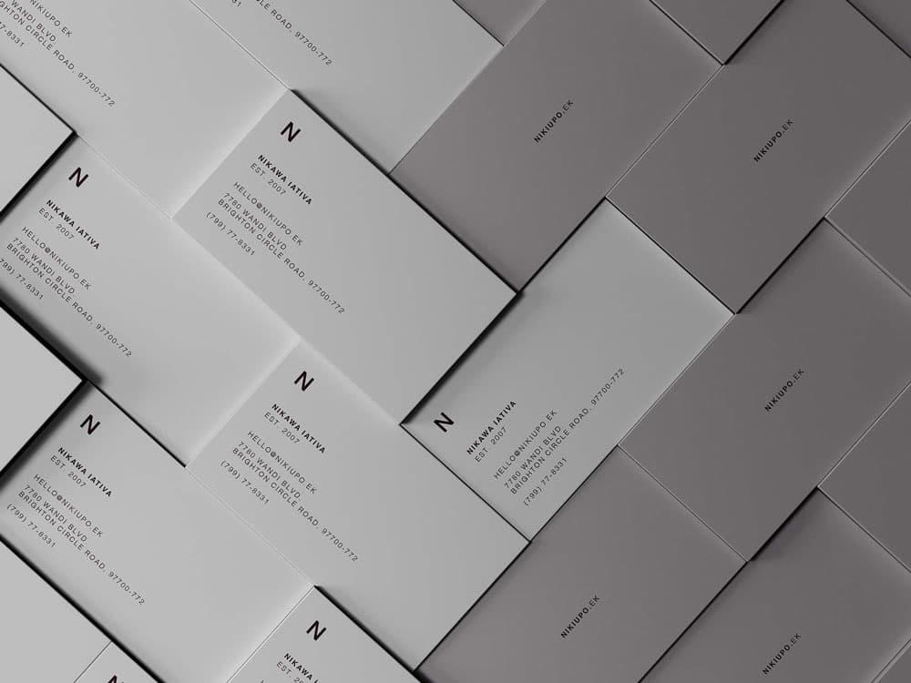 Free Aligned Business Card PSD Mockup