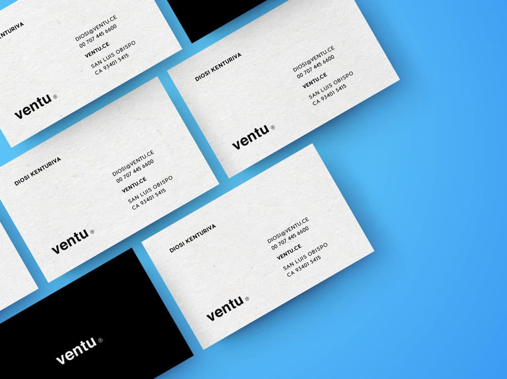 Free Top View Business Cards PSD Mockup