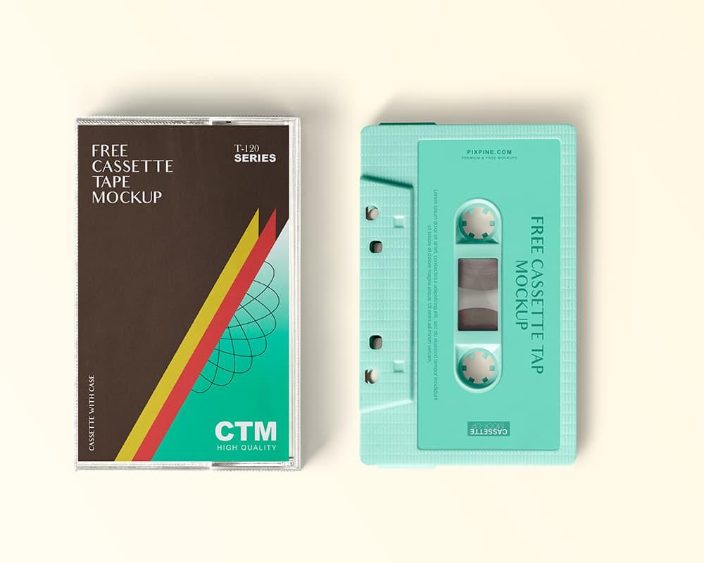 Free Cassette Tape PSD Mockup