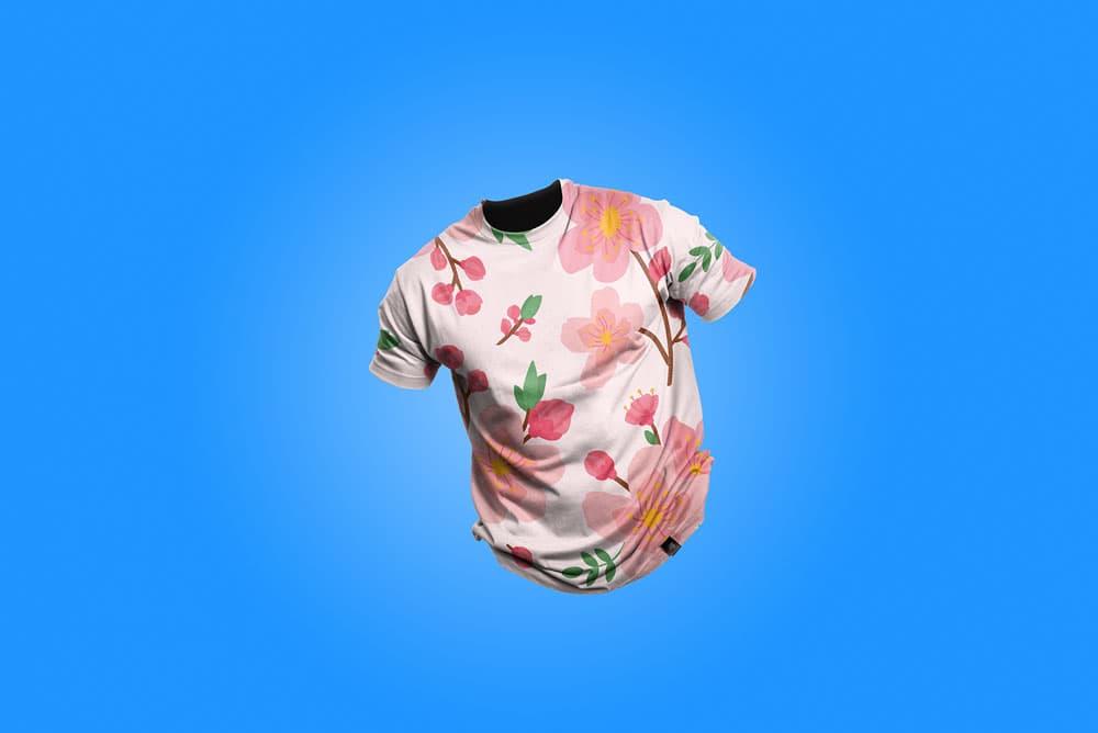 Free Clean T-Shirt PSD Mockup