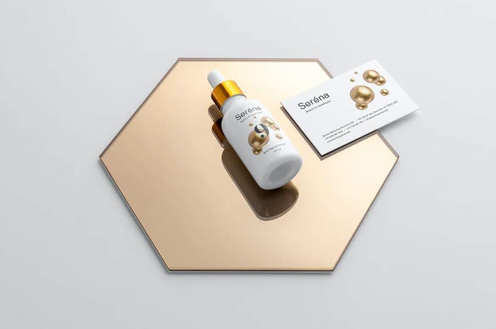 Free Cosmetics Branding PSD Mockup