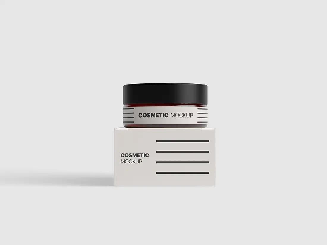 Free Cosmetics Packaging PSD Mockup