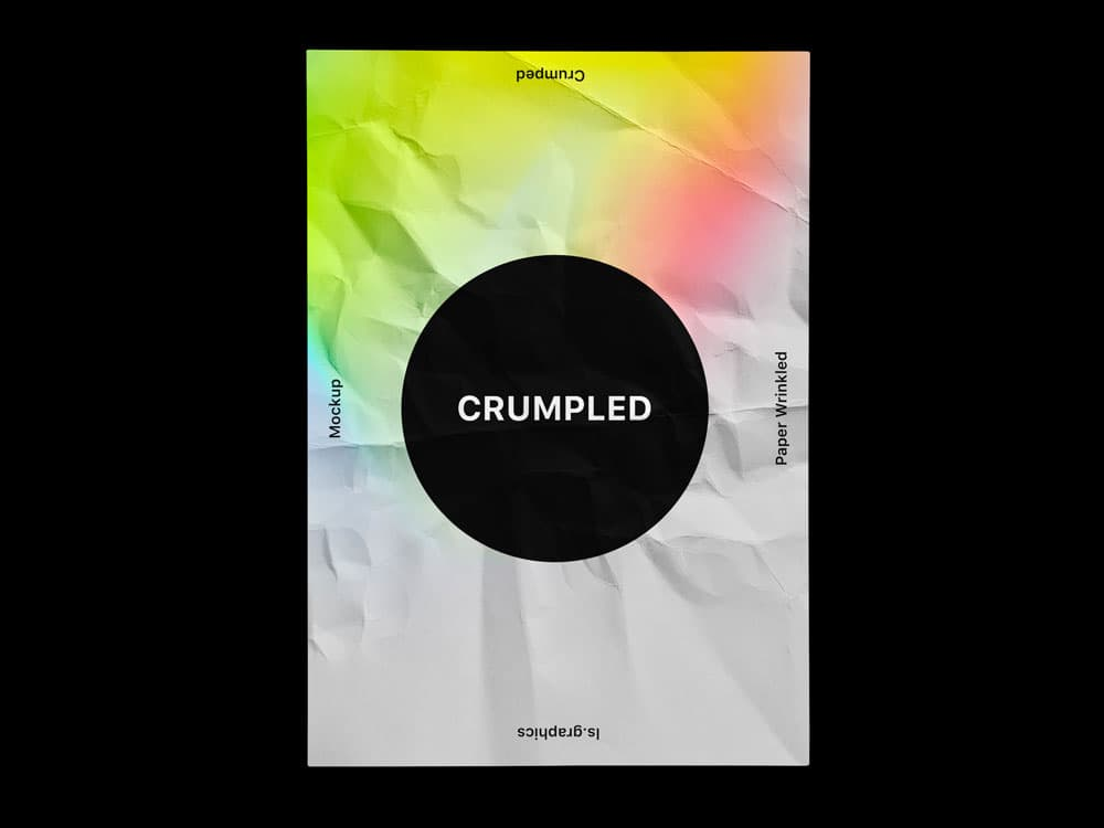 Free Crumpled Paper PSD Mockups