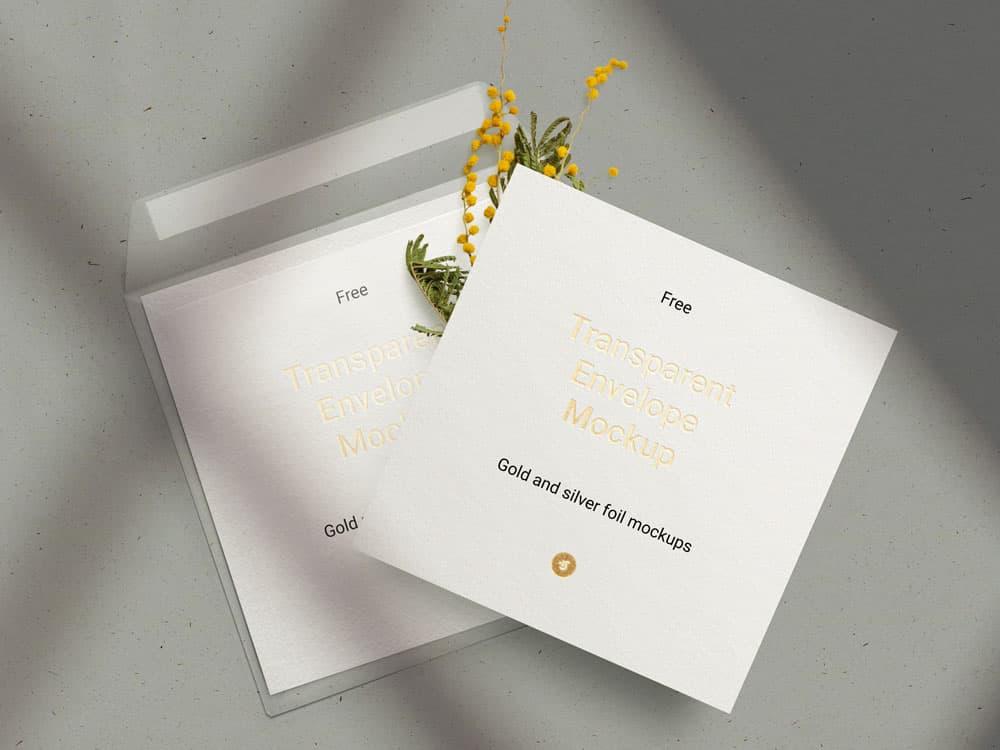 Free Envelope & Card PSD Mockups