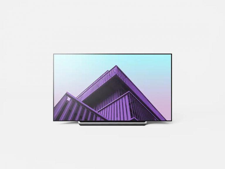Free LG OLED 4K TV PSD Mockup