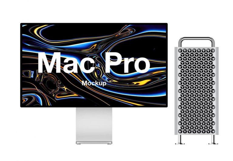 Free Mac Pro PSD Mockup