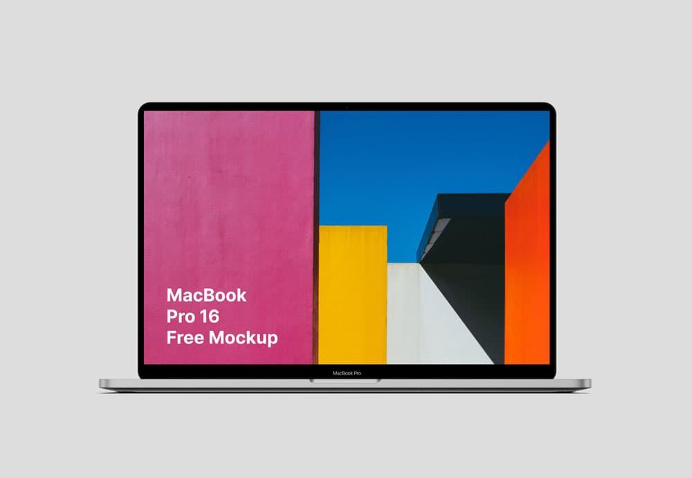 Free MacBook Pro 16 PSD Mockup