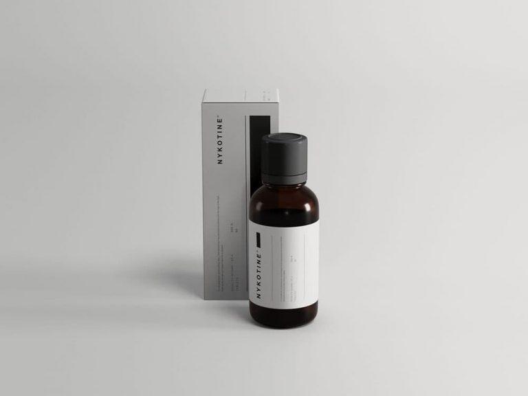 Free Medicine Bottle Packaging PSD Mockup