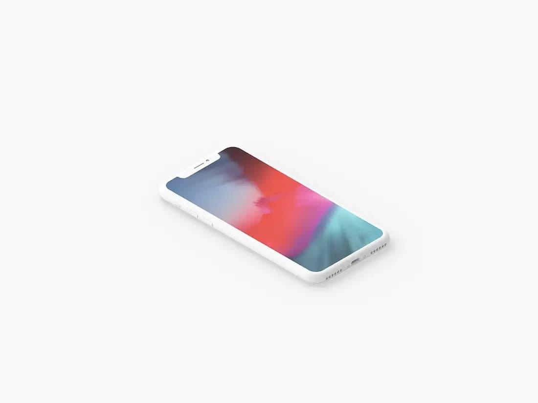 Free Minimal Clay iPhone PSD Mockup