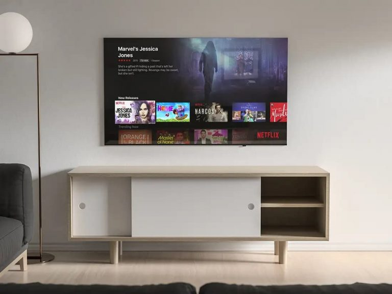 Free Modern TV PSD Mockup