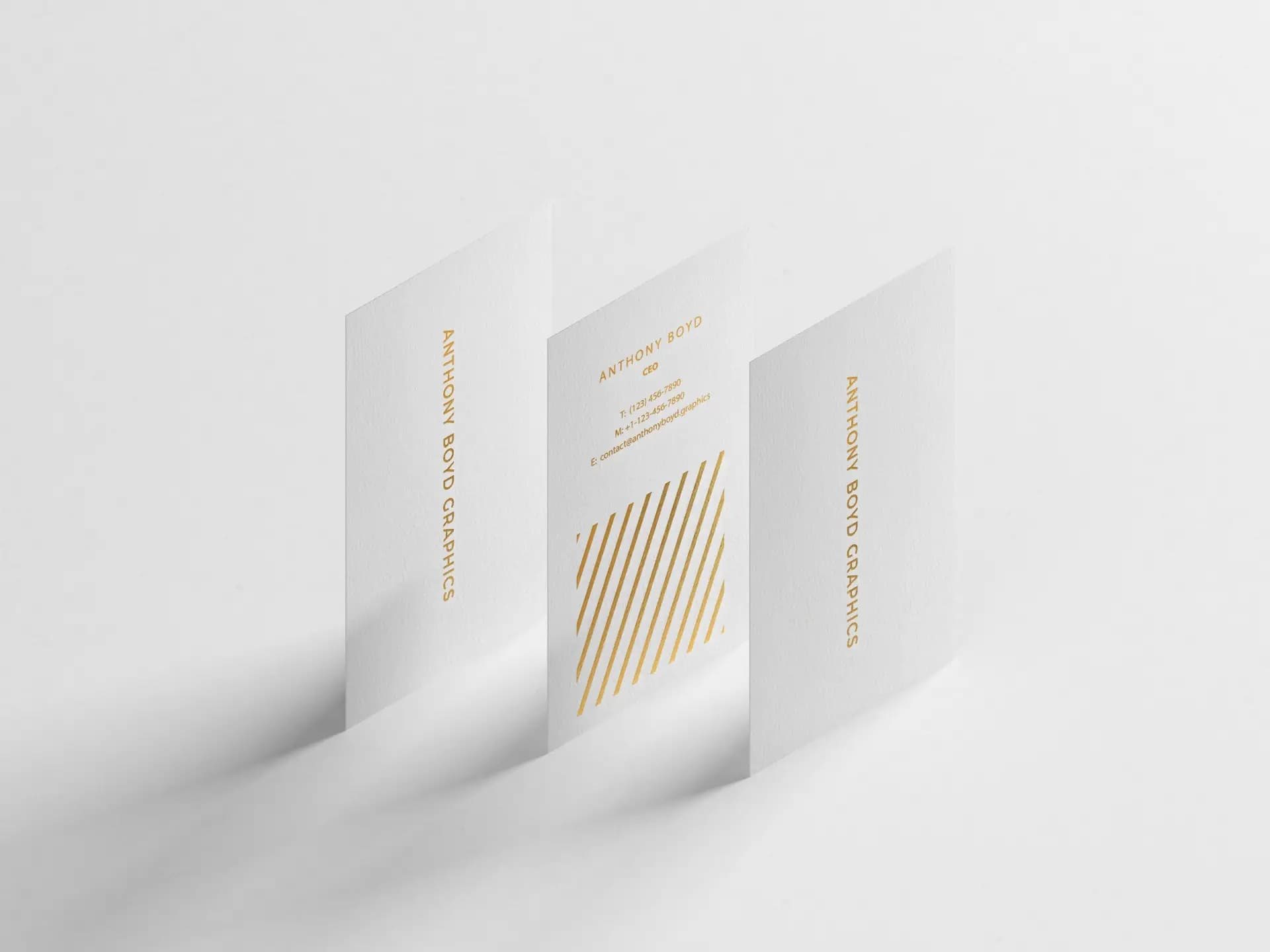 Free Modern Vertical Business Card PSD Mockup