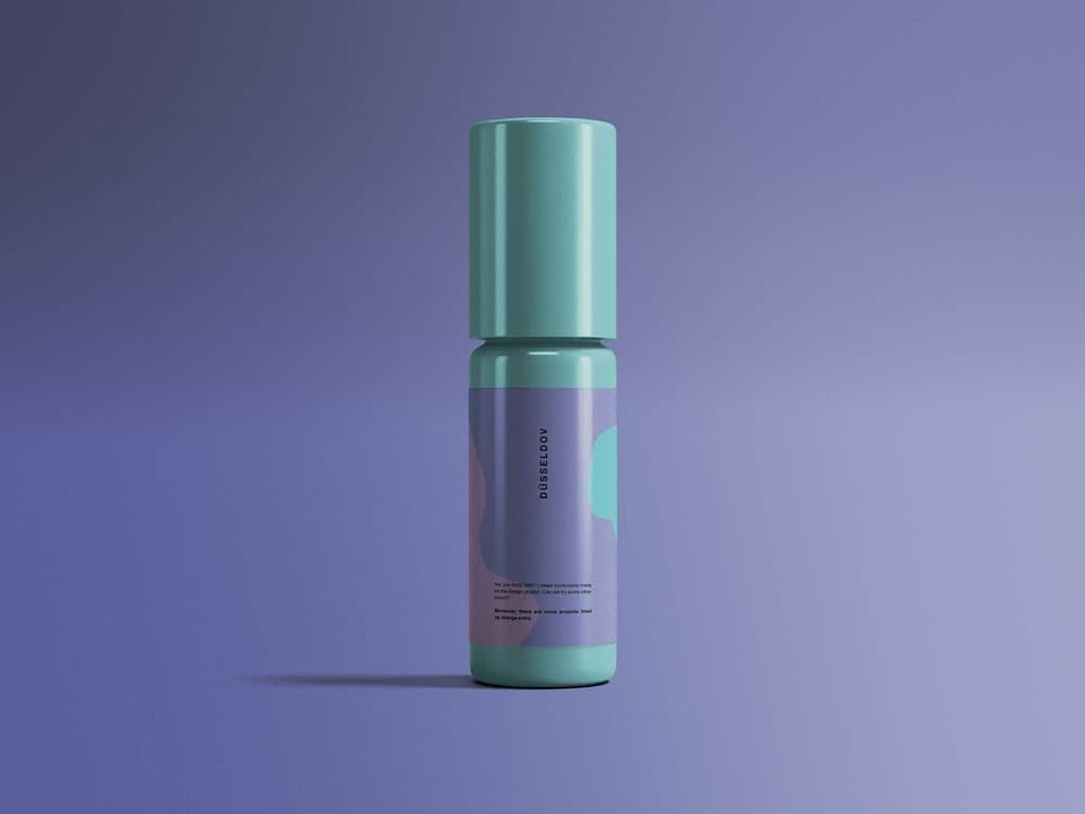 Free Multipurpose Cosmetics Bottle PSD Mockup