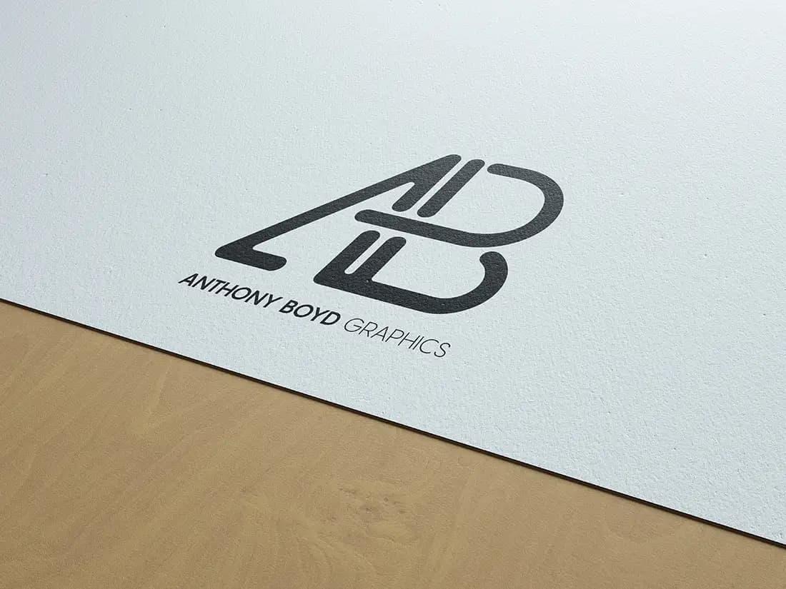 Free Natural Paper Logo Branding PSD Mockup