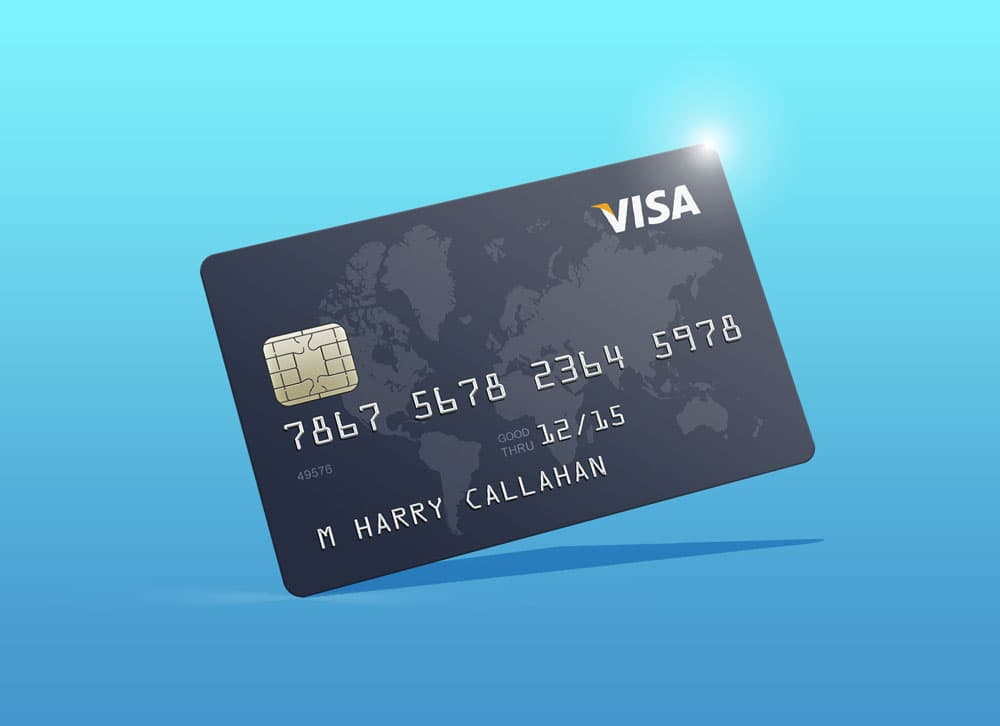 Free Photorealistic Credit Card PSD Mockup