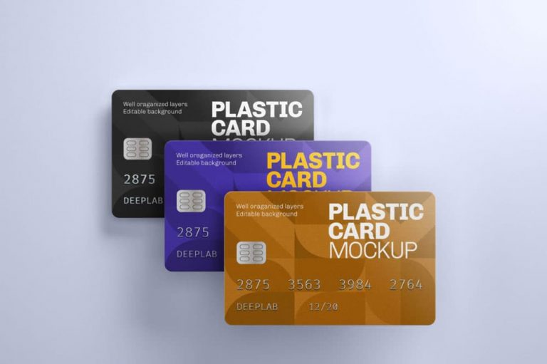 Free Plastic Credit Card PSD Mockup