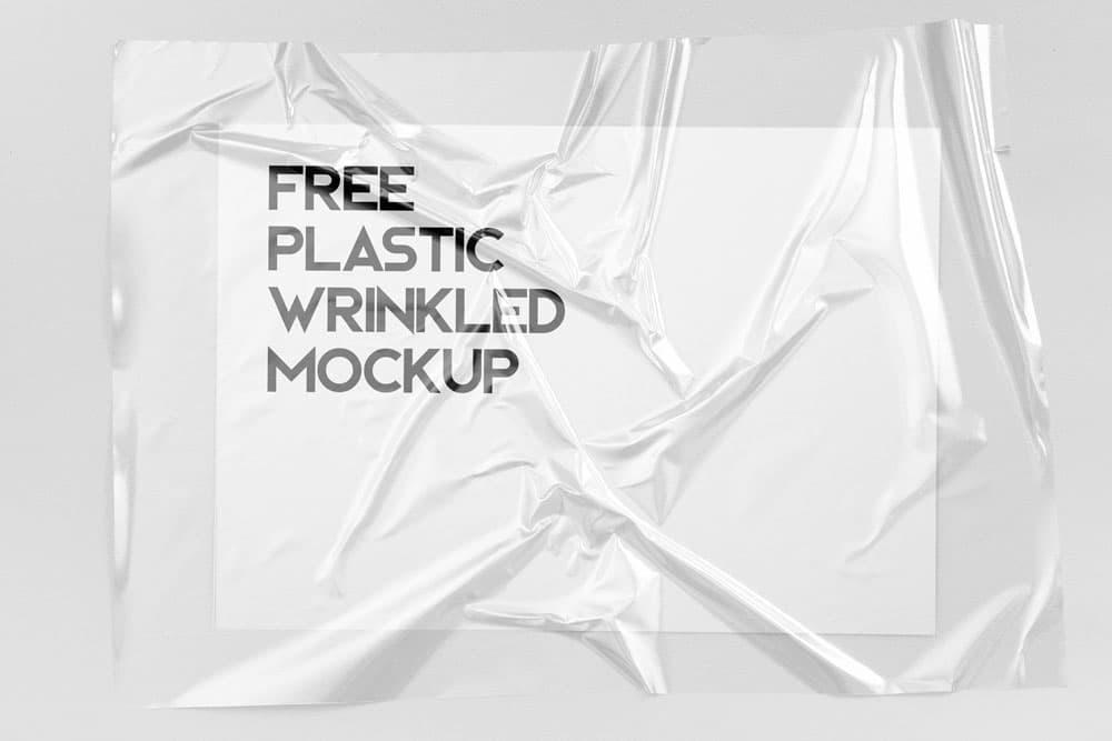 Free Plastic Wrinkled Reflections PSD Mockups