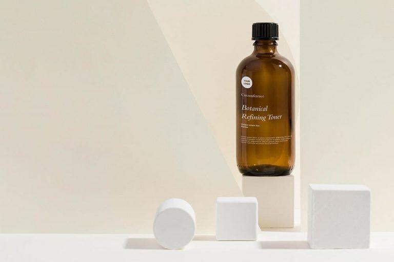 Free Skin Care Bottle PSD Mockup