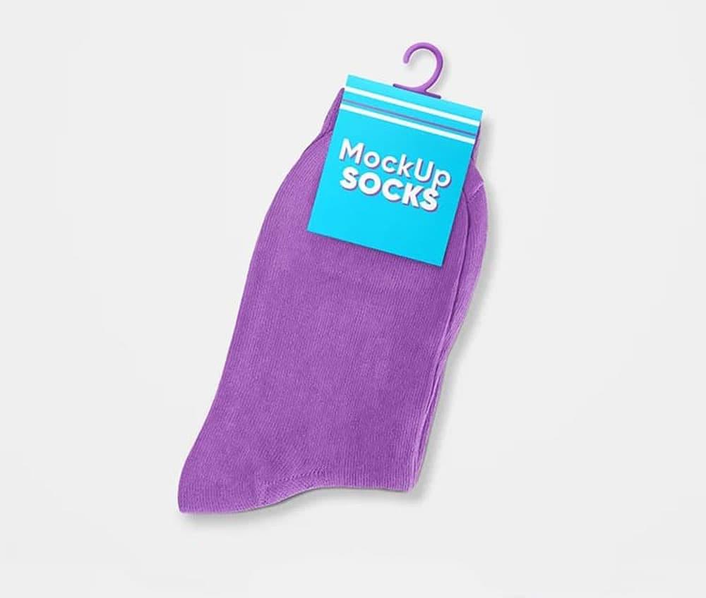 Free Socks PSD Mockup