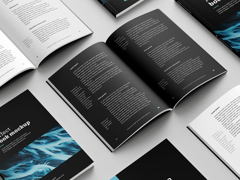 Free Softcover Book PSD Mockup