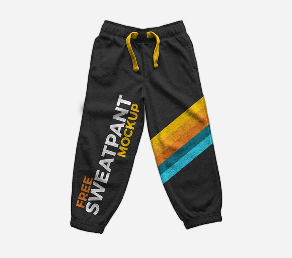 Free Sweatpants PSD Mockup