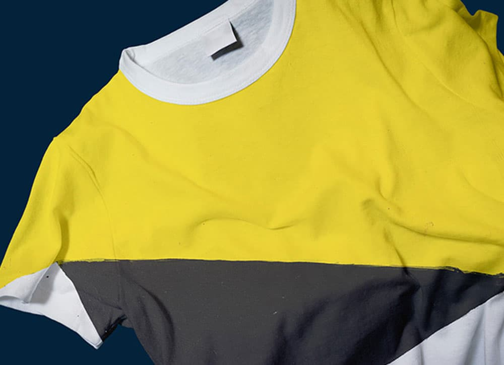 Free Wrinkled T-Shirt PSD Mockup