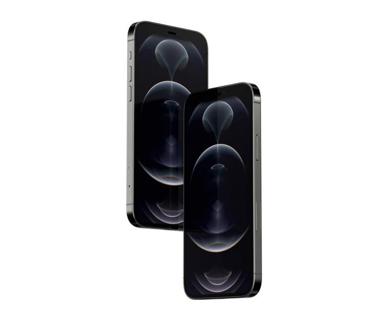 Floating iPhone 12 Pro Free PSD Mockup