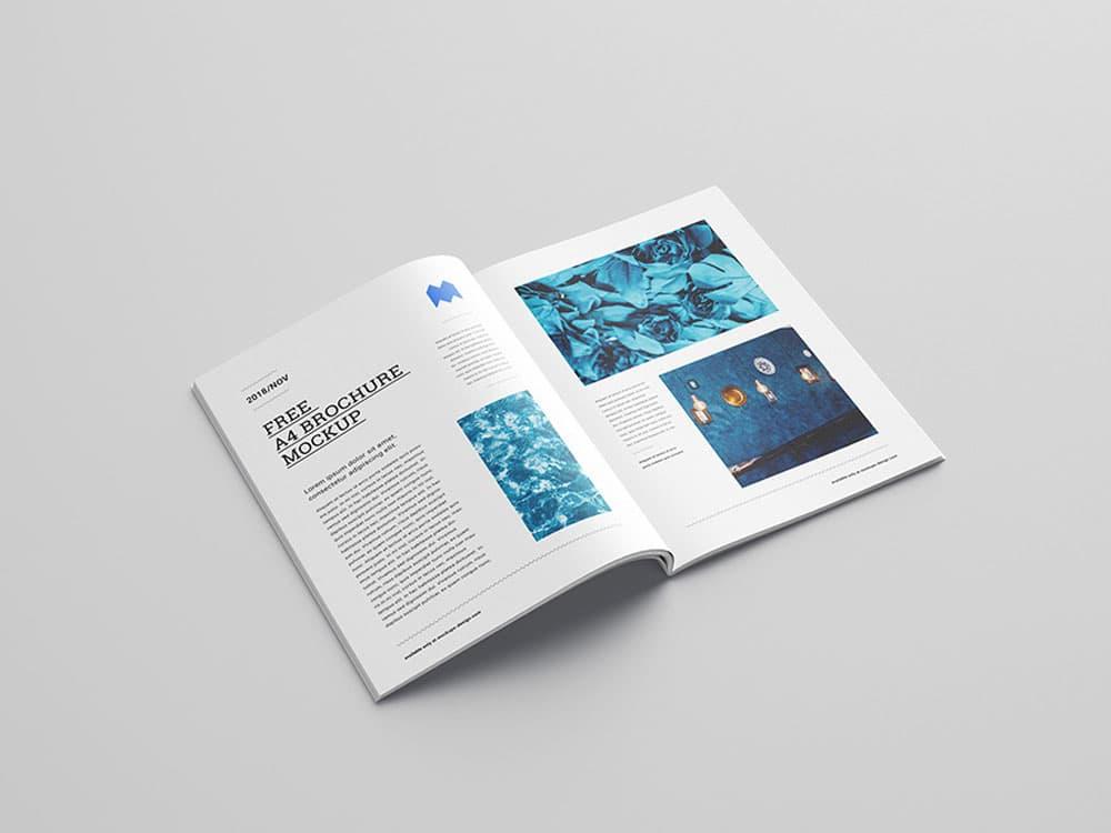Free A4 Brochure PSD Mockups