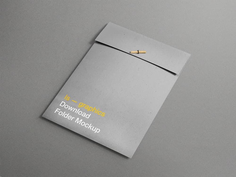 Free A4 Folder PSD Mockup