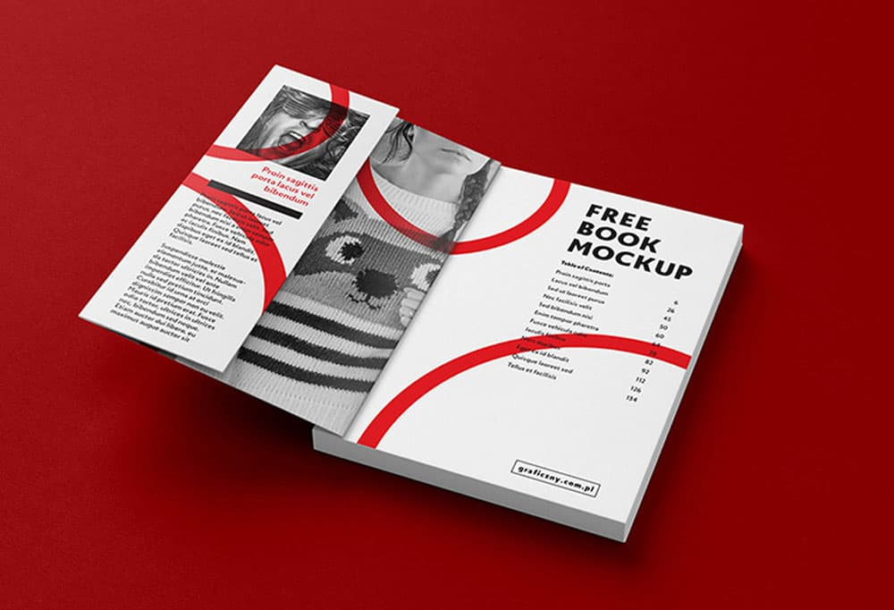 Free Book Brochure PSD Mockups
