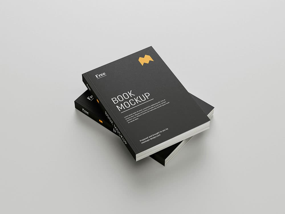 Free Book PSD Mockups