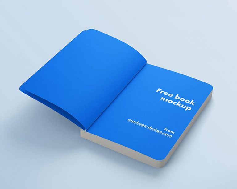 Free Book With Rounded Corners PSD Mockups
