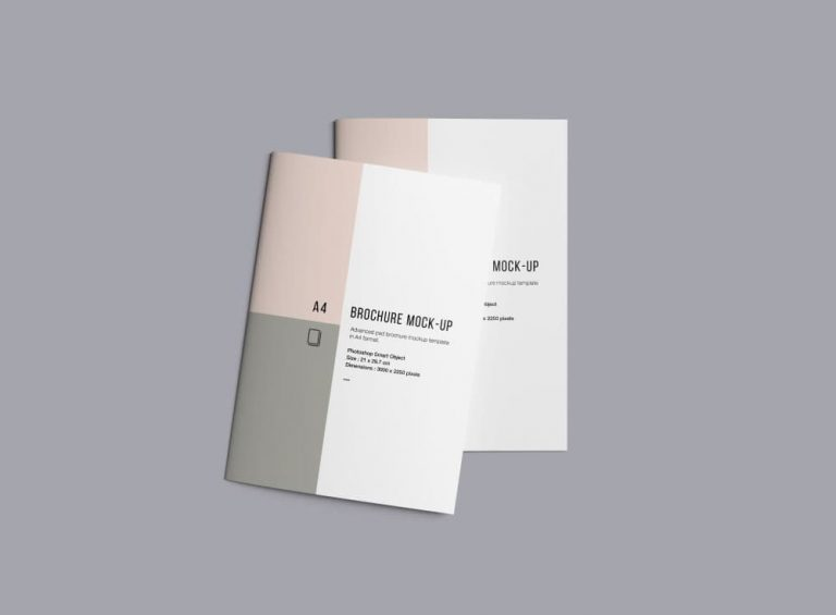 Free Brochure Set PSD Mockup