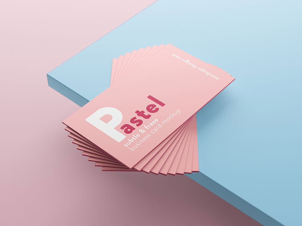 Free Business Card PSD Mockup Scene